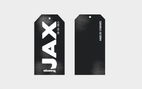 Geboortekaartje Jax in de vorm van een label