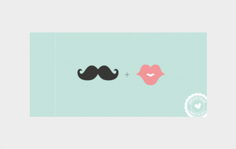 Trouwticket Moustache Mint