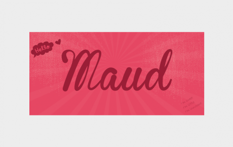 Geboortekaartje Maud in de vorm van een ticket