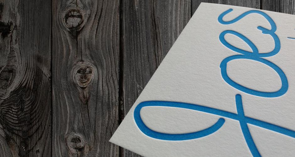 letterpresss geboortekaartje naam groot