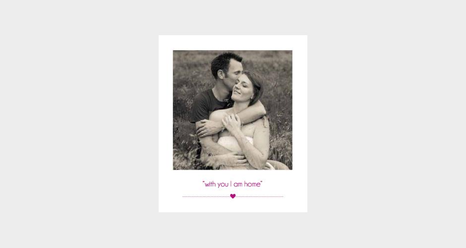 vintage trouwkaarten set met foto