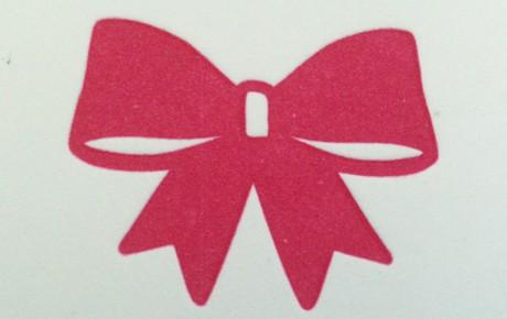 Letterpress geboortekaartje Strikje Rosalie