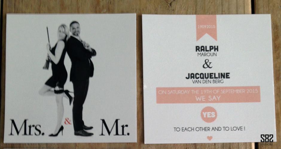 trouwkaarten set met foto
