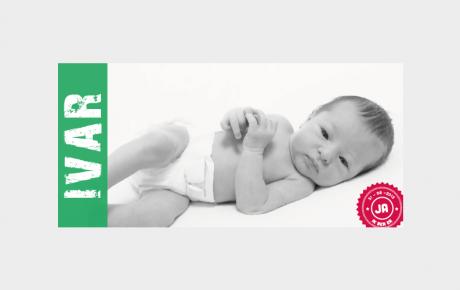 Geboortekaartje ticket met foto baby