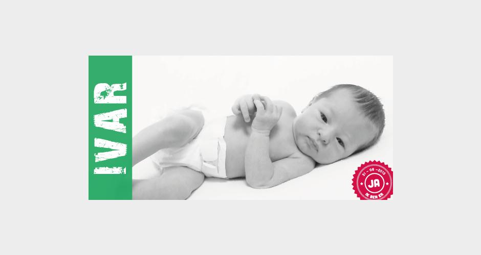 geboortekaart ticket met foto baby